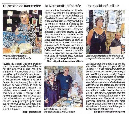 Article Courrier de l'Ouest 11/06/17