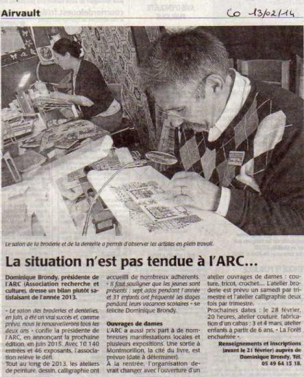 COURRIER DE L OUEST 13/02/14